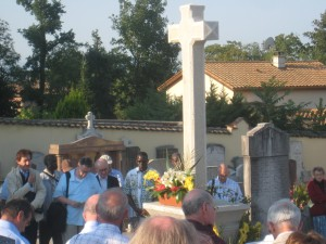 Viatorians gather at the grave of Fr. Louis Querbes in Vourles, in 2009